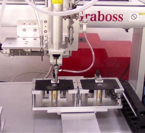 苏州某有限公司全自动锁螺丝机锁锁具产品案例