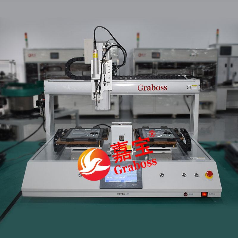江苏省某有限公司桌面气吸式锁苹果配件螺丝机案例