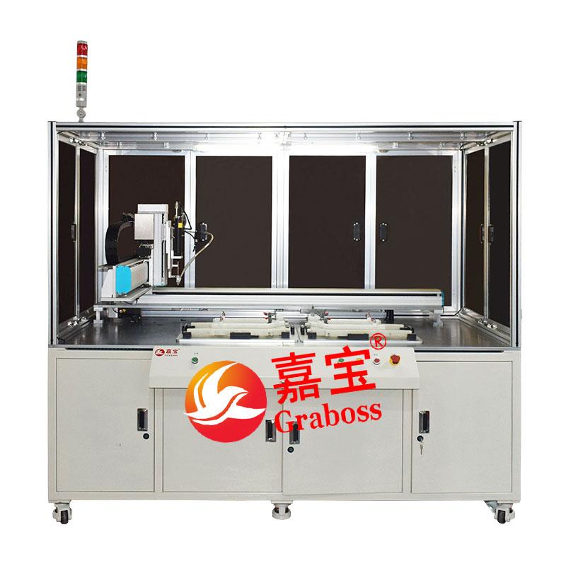 宁波市落地悬臂式锁运动器材配件自动螺丝机案例