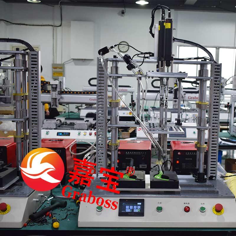 南通某有限公司桌面多轴全自动锁螺丝机案例