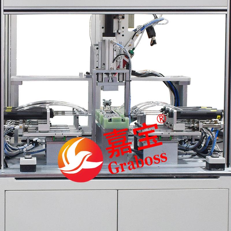 浙江某有限公司落地多轴侧面锁机械配件螺丝机案例