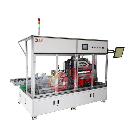 上海市某公司集团落地在线式气吹锁打印机螺丝机方案