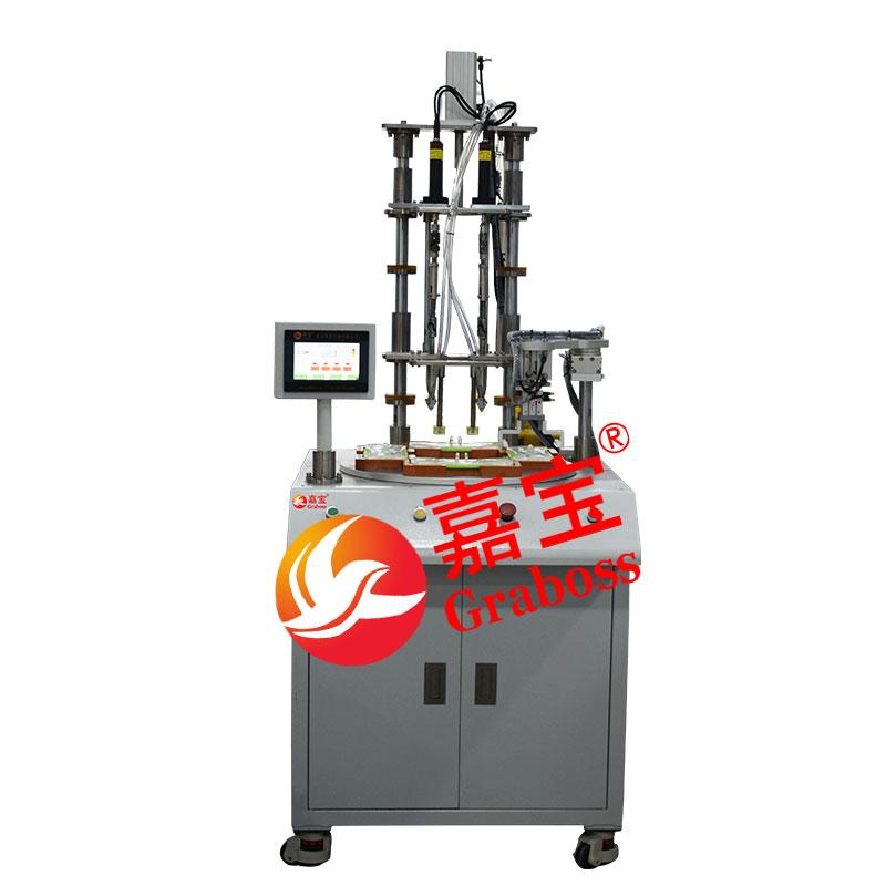 浙江某有限公司落地四轴转盘式自动锁清洁配件螺丝机