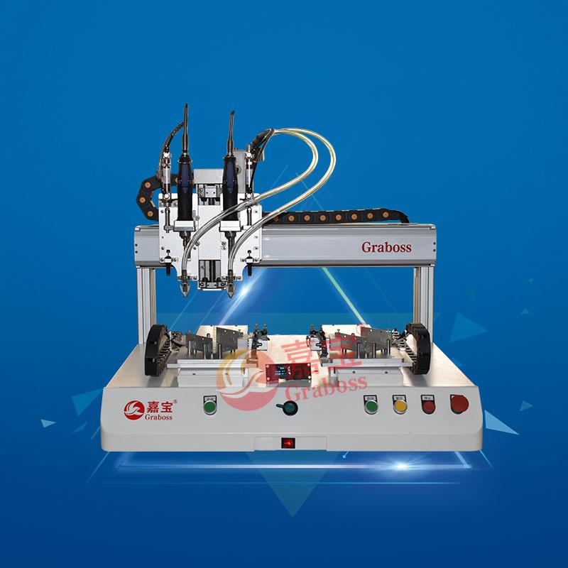 坐标型双Y轴双电批锁电源开关盒全自动锁螺丝机-缩略图