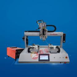 坐标气吹式+点胶功能锁健身器材螺丝机