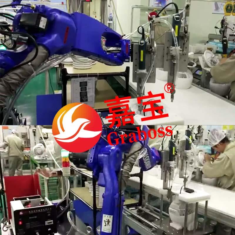 嘉宝机械手臂自动锁螺丝机展示图